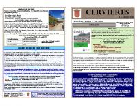 Cervieres Bulletin N37 sept- 2020
